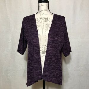 Purple Sweater LuLaRoe Bianca Open Front Cardigan
